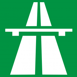 Horvát autópálya útinfó